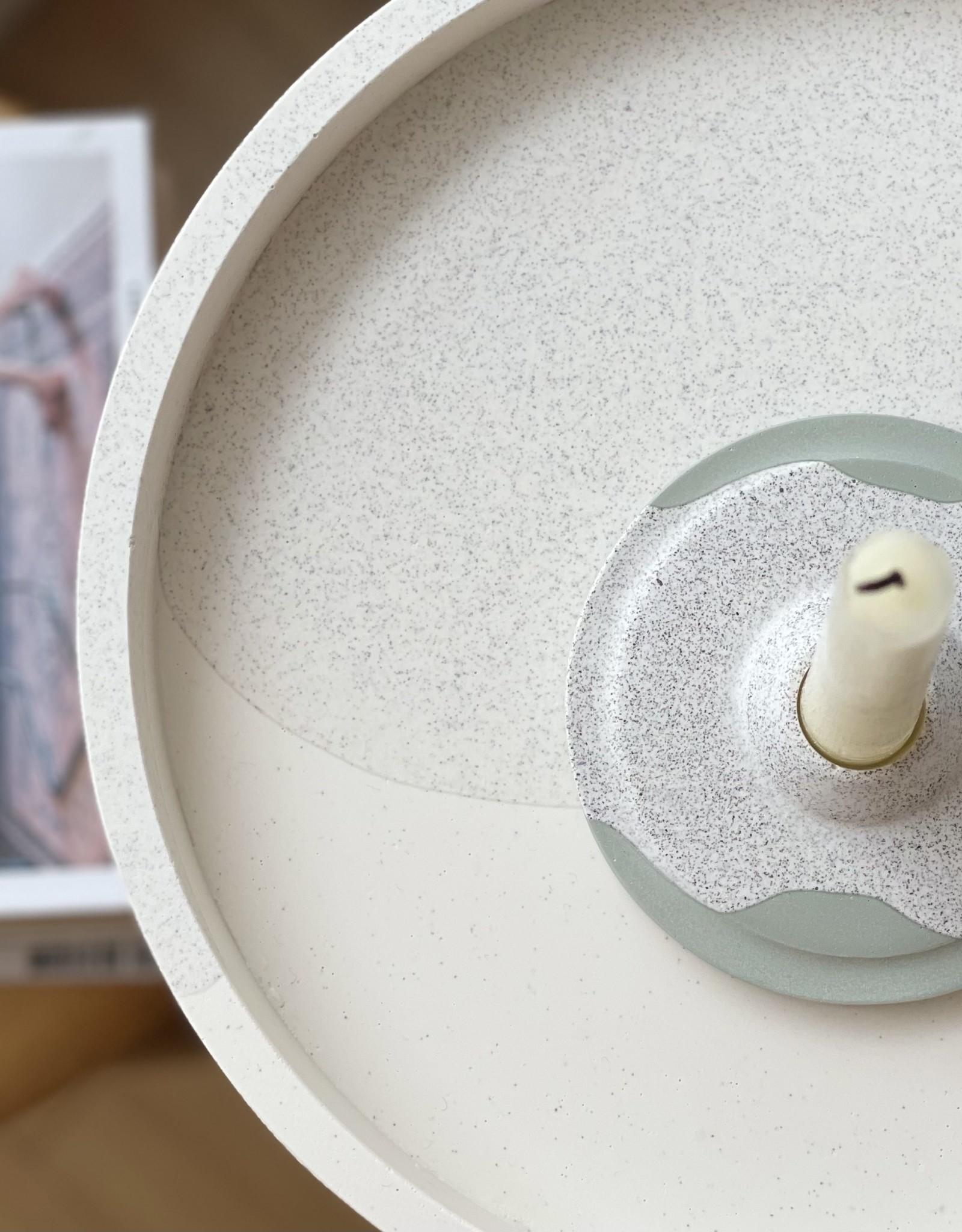 L'écueil Atelier Bougeoir plat pour bougie