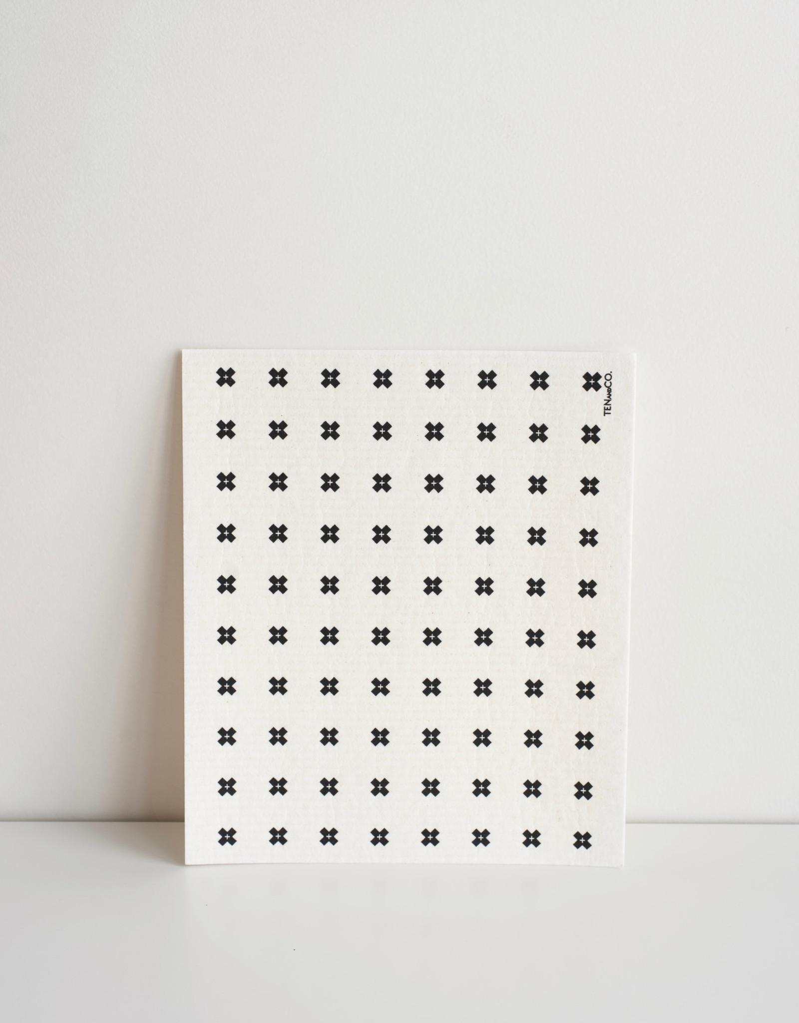 Ten & Co Essuie-Tout réutilisable Petit X Blanc