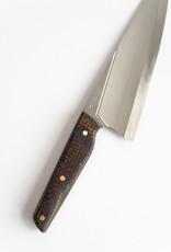 Couteaux CLK Couteau Chef 8'' Micarta de Jute et Rivets de Laiton