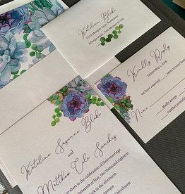 Pennysmiths Invitations Purple Succulents