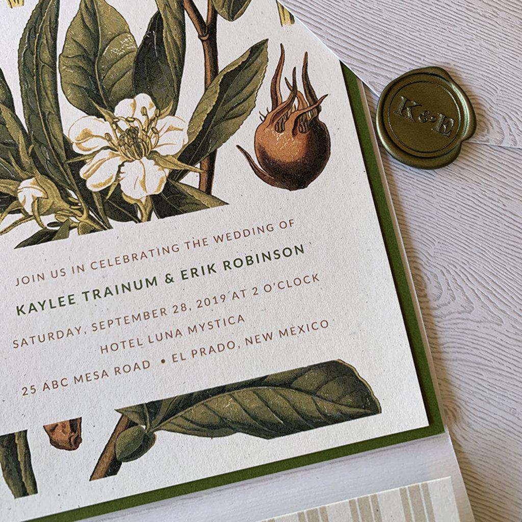 Pennysmiths Invitations Botanical Stripe