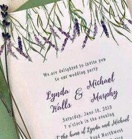 Pennysmiths Invitations Lavender Brush