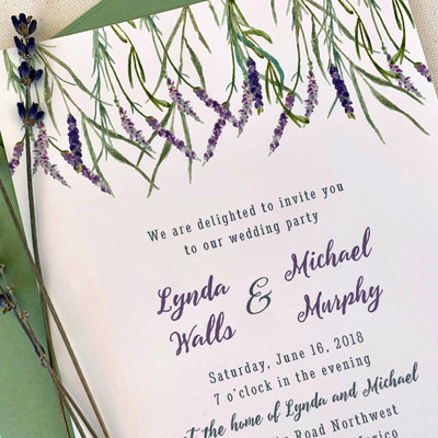 Pennysmiths Invitations Lavender Brush