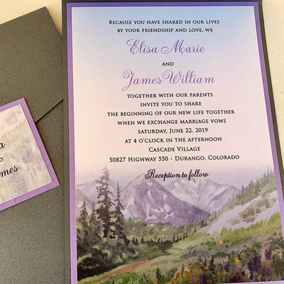 Pennysmiths Invitations Colorado Cascades