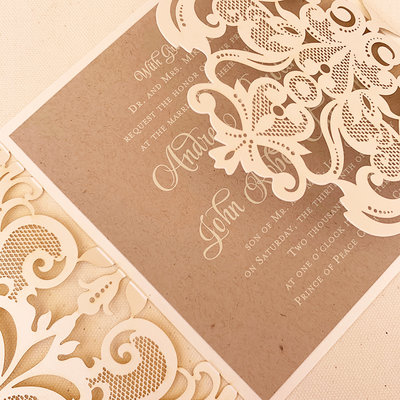 Pennysmiths Invitations Organic Lace