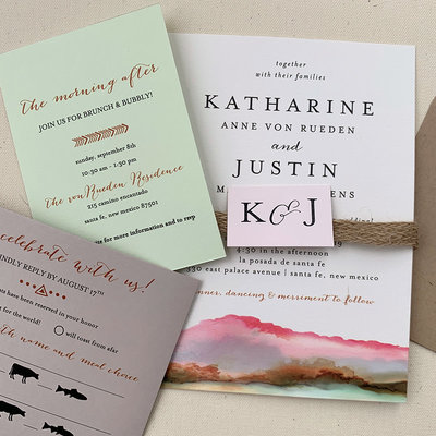 Pennysmiths Invitations Shades of the Southwest