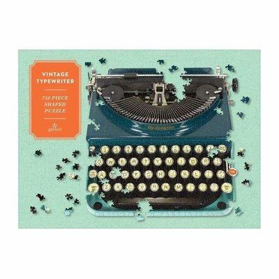 Puzzle 750 Shaped Vintage Typewriter