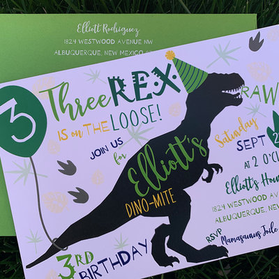 Pennysmiths Invitations Three Rex