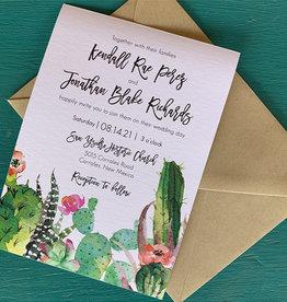 Pennysmiths Invitations Kendall Cactus Invitation