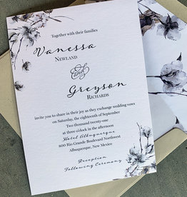 Pennysmiths Invitations Cotton Boughs Invitation