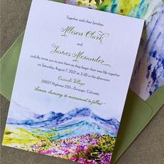 Floral Peaks Invitation