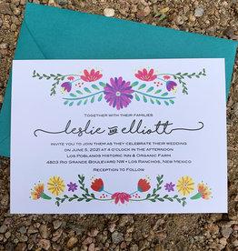 Pennysmiths Invitations Estella Floral invitation