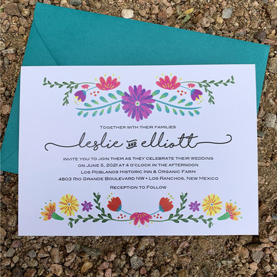 Pennysmiths Invitations Estella Floral invitation