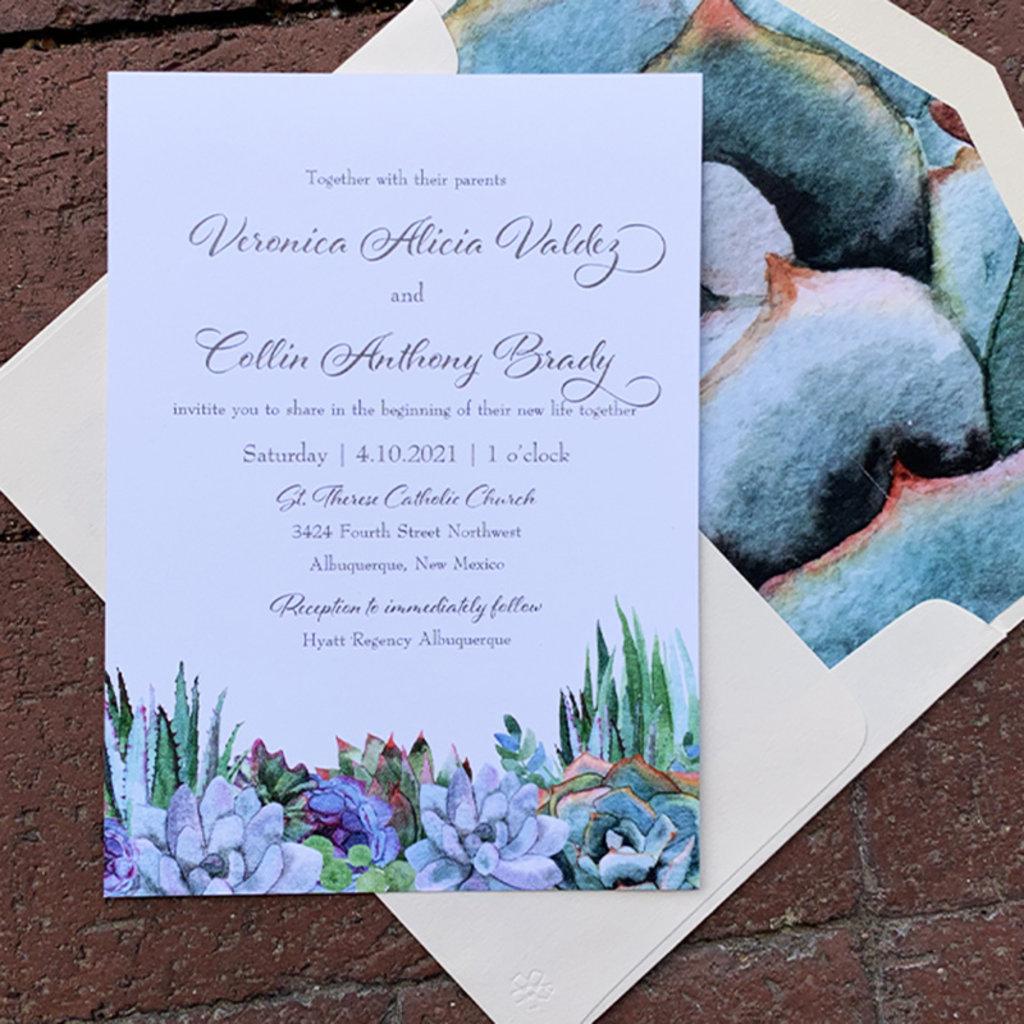 Pennysmiths Invitations Succulence Invitation