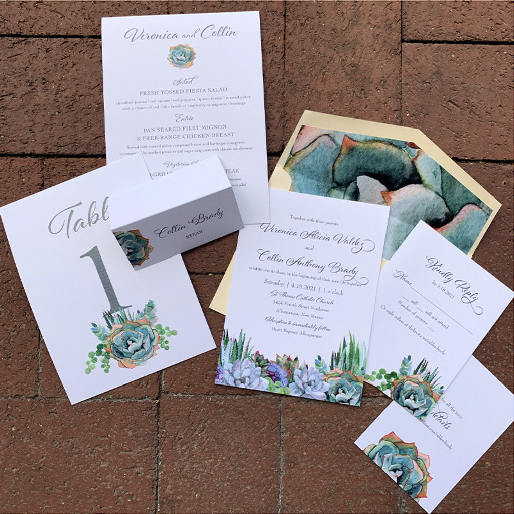 Succulence Invitation