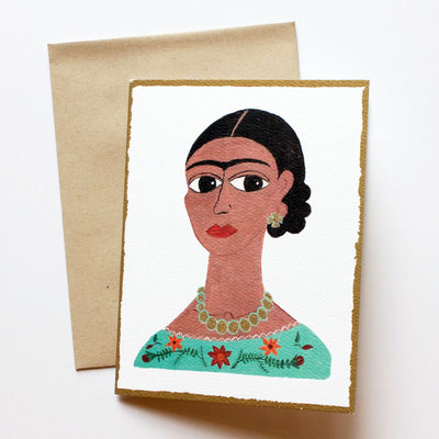 Frida card set - 2 cards of each image, 8 total