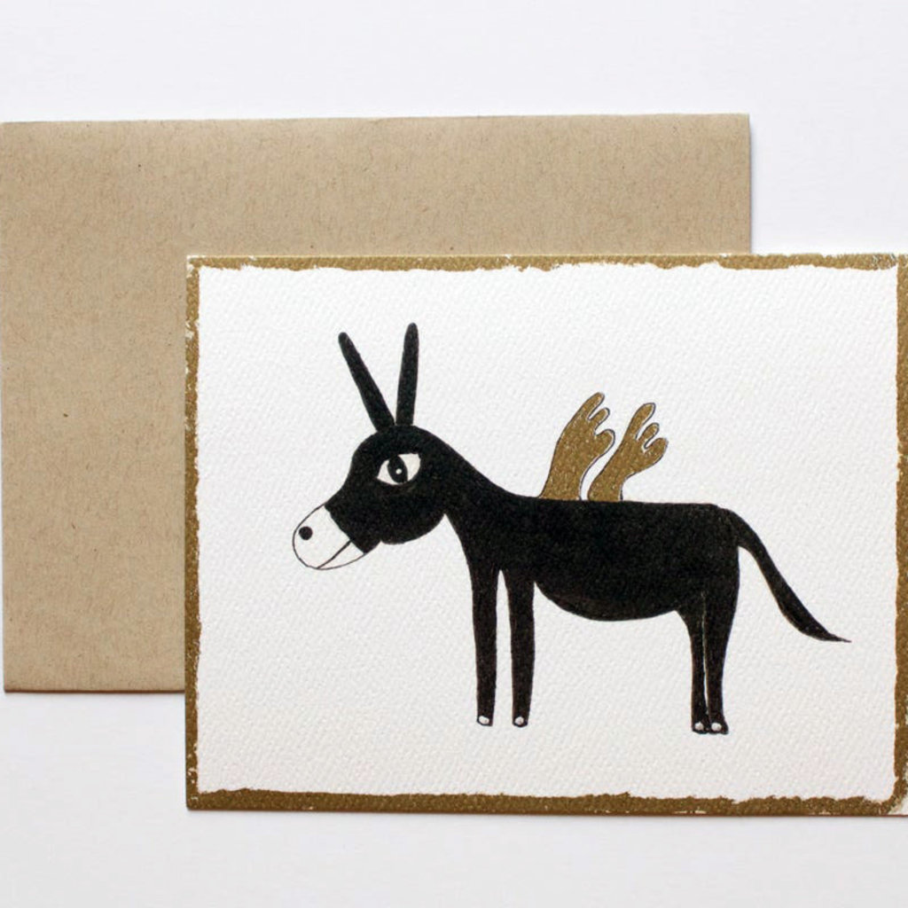 Donkey card set of 8 - 2 cards of each image