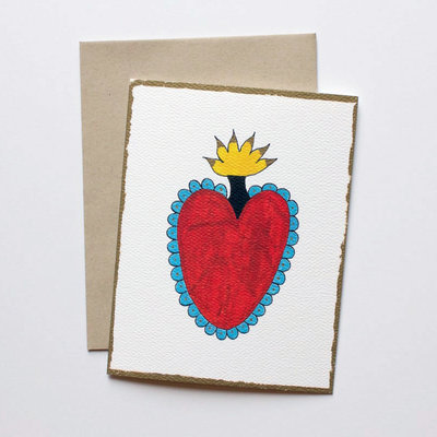 Heart card set - 2 cards of each image, 8 total
