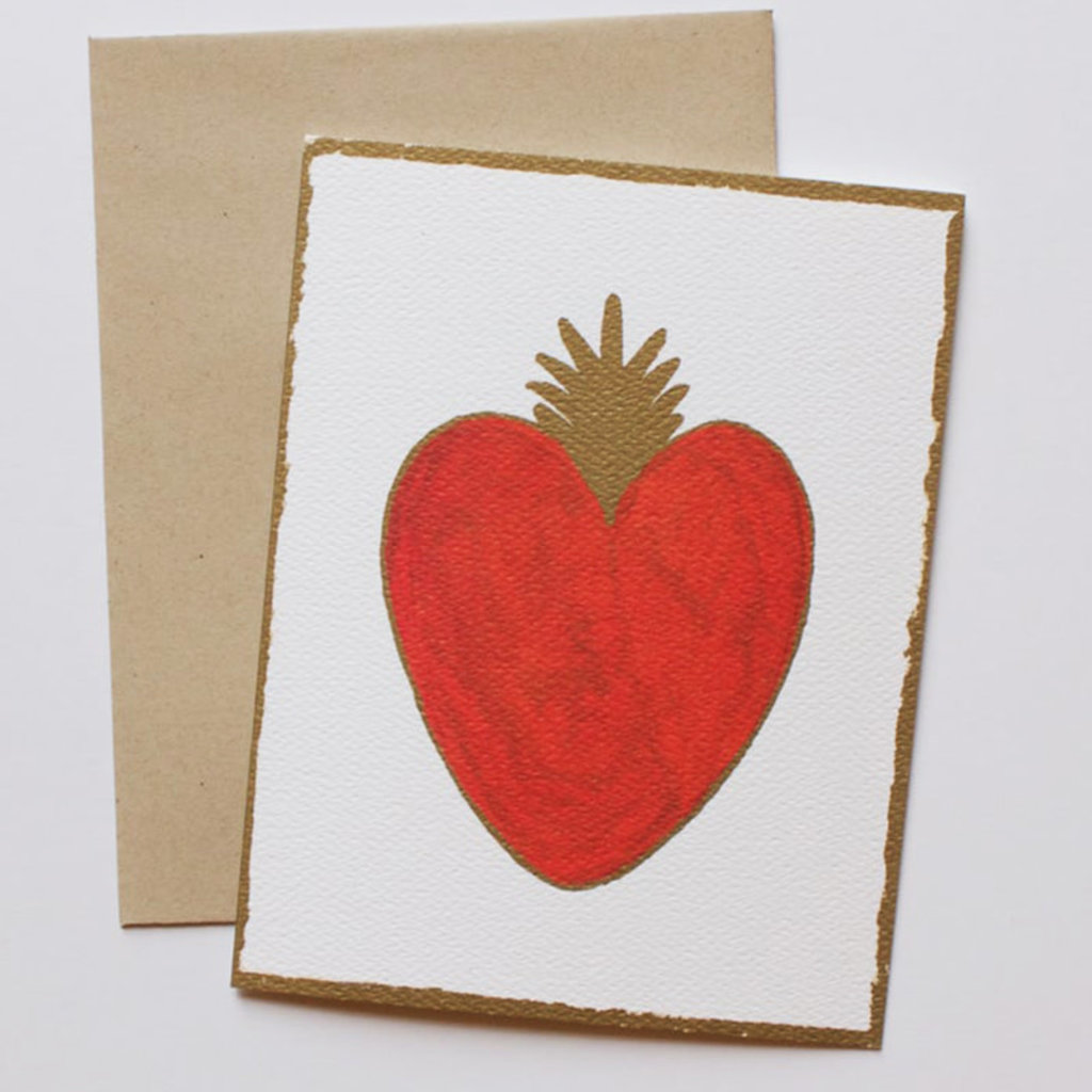 Heart card set of 8 - 2 cards of each image
