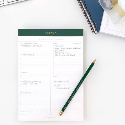 Daily Agenda Legal Notepad
