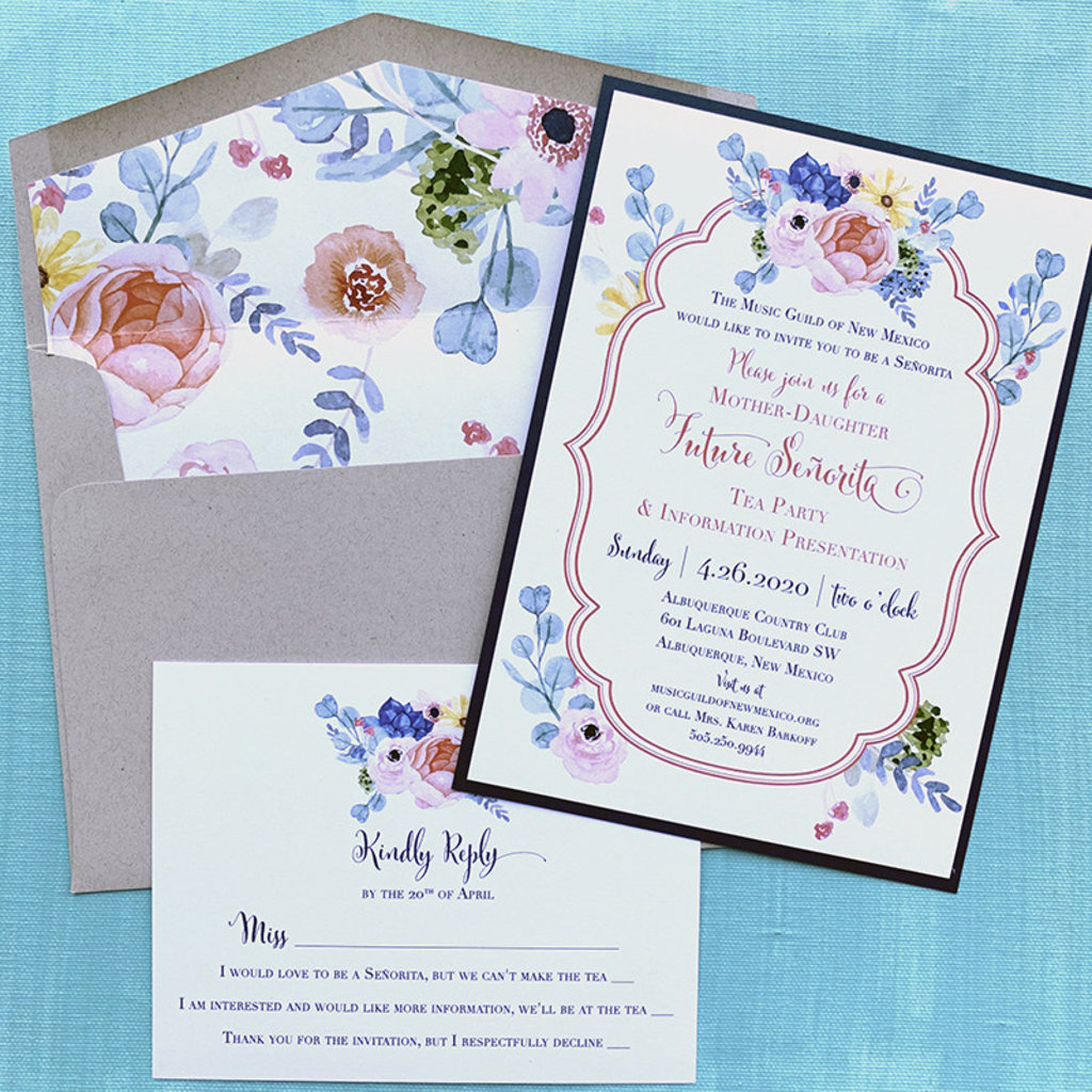 Pennysmiths Invitations Country Blooms