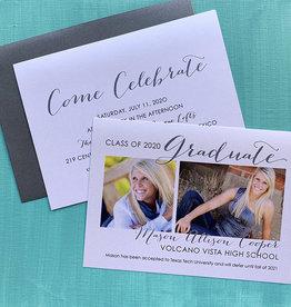 Pennysmiths Invitations 2 Photo Graduation
