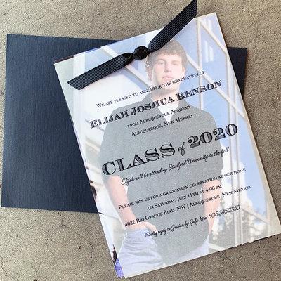 Pennysmiths Invitations Vellum Graduation