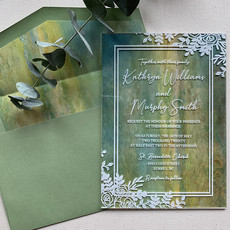 Janice Paper Sage Acrylic Invitation