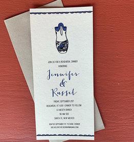 Janice Paper Russel Vase Invitation