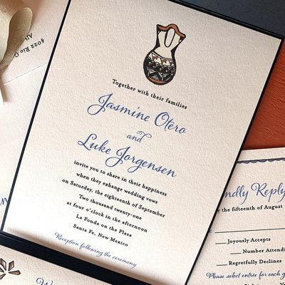 Pennysmiths Invitations Handpainted Wedding Vase Invitation