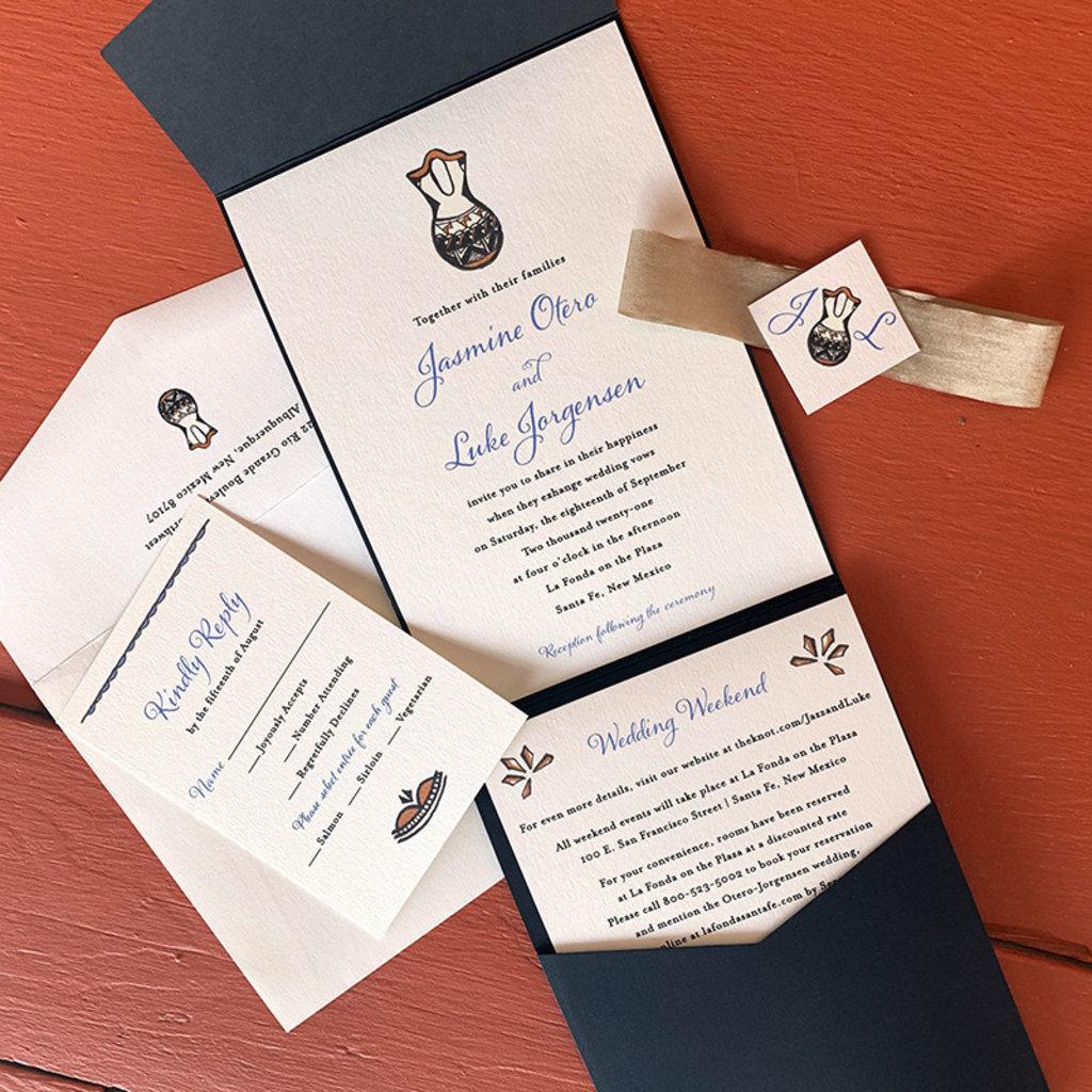 Handpainted Wedding Vase Invitation