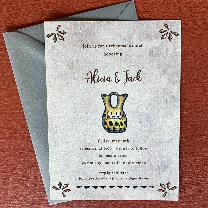Alicia Vase Invitation
