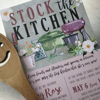 Stock the Kitchen Shower Invitation