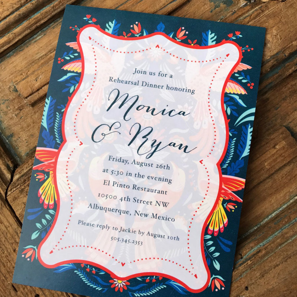 Pennysmiths Invitations Mexican Blue Border Invitation