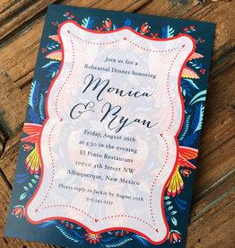 Mexican Blue Border Invitation