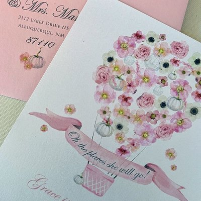 Pennysmiths Invitations Blooming Balloon Invitation