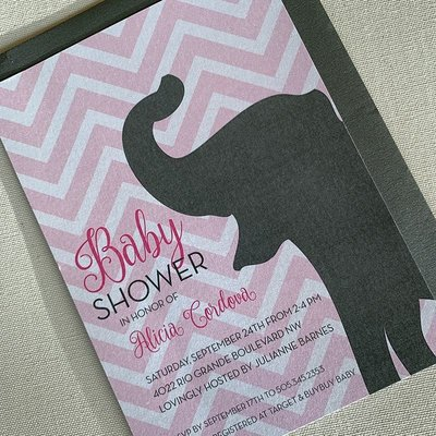 Pennysmiths Invitations Ellie the Elephant Invitation