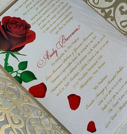Beauty and the Lace Invitation