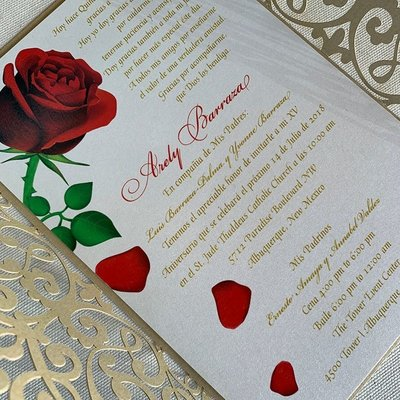 Pennysmiths Invitations Beauty and the Lace Invitation