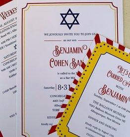 Pennysmiths Invitations Step Right Up Invitation