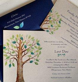Pennysmiths Invitations Tree of Life Invitation
