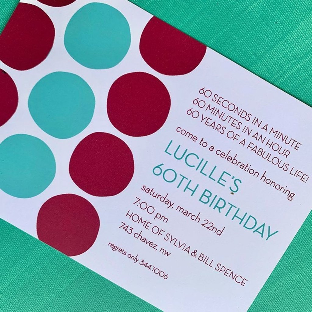 Dots Invitation