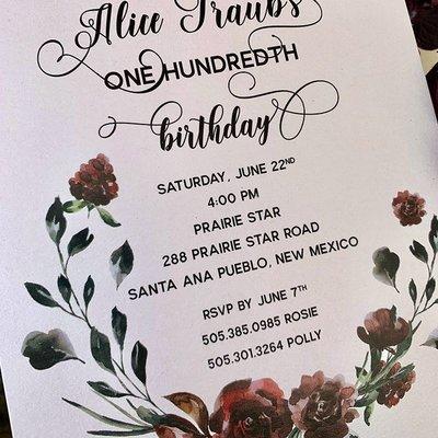 Pennysmiths Invitations Wine Roses Invitation