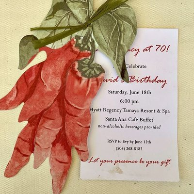 Pennysmiths Invitations Red Chile Ristra Invitation