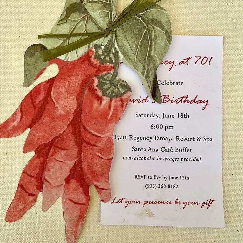 Red Chile Ristra Invitation