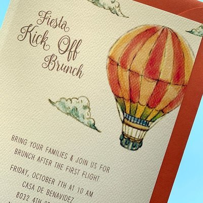Pennysmiths Invitations Balloon Kick-Off Invitation