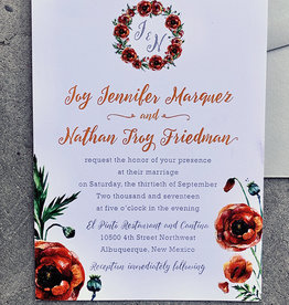 Poppy Perfect Invitation