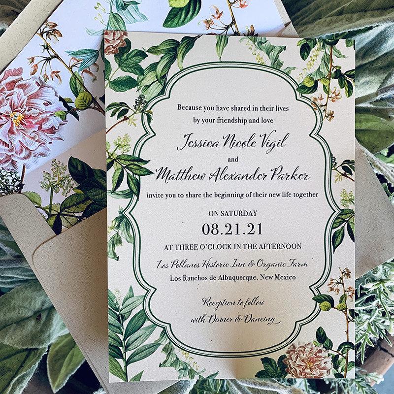 Vintage Botanical Invitation