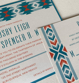 Envelopments Concho Band Wedding Invitation