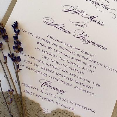 William Arthur Jill & Adam Wedding Invitation